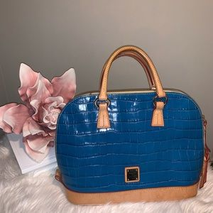 Authentic Dooney and Bourke Croc Satchel